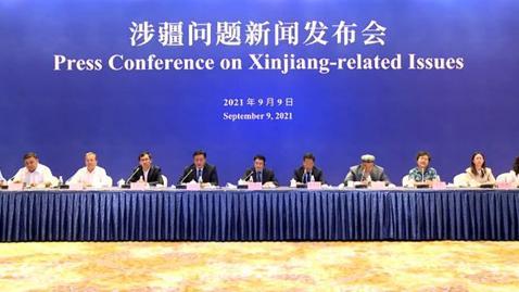 中国驻英国大使馆与新疆维吾尔自治区政府联合举办涉疆问题线上新闻公布会